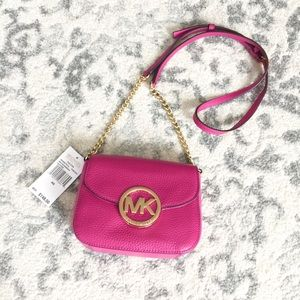 MICHAEL Michael Kors genuine leather crossbody bag